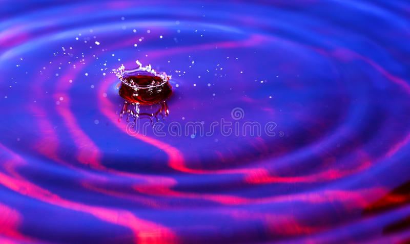 Water Drop Explosion stock image