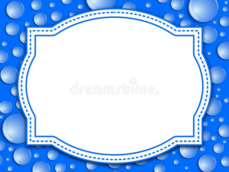 Water Drop Frame Stock Photo