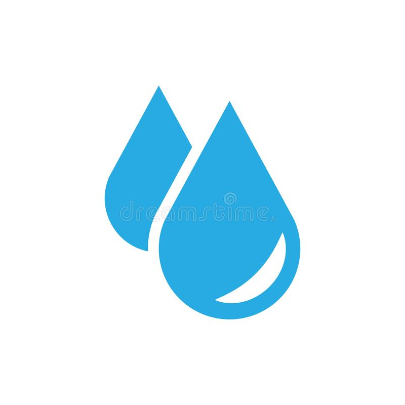 Water drop icon in flat style. Raindrop vector illustration on w. Hite isolated background. Droplet water blob business concept royalty free illustration