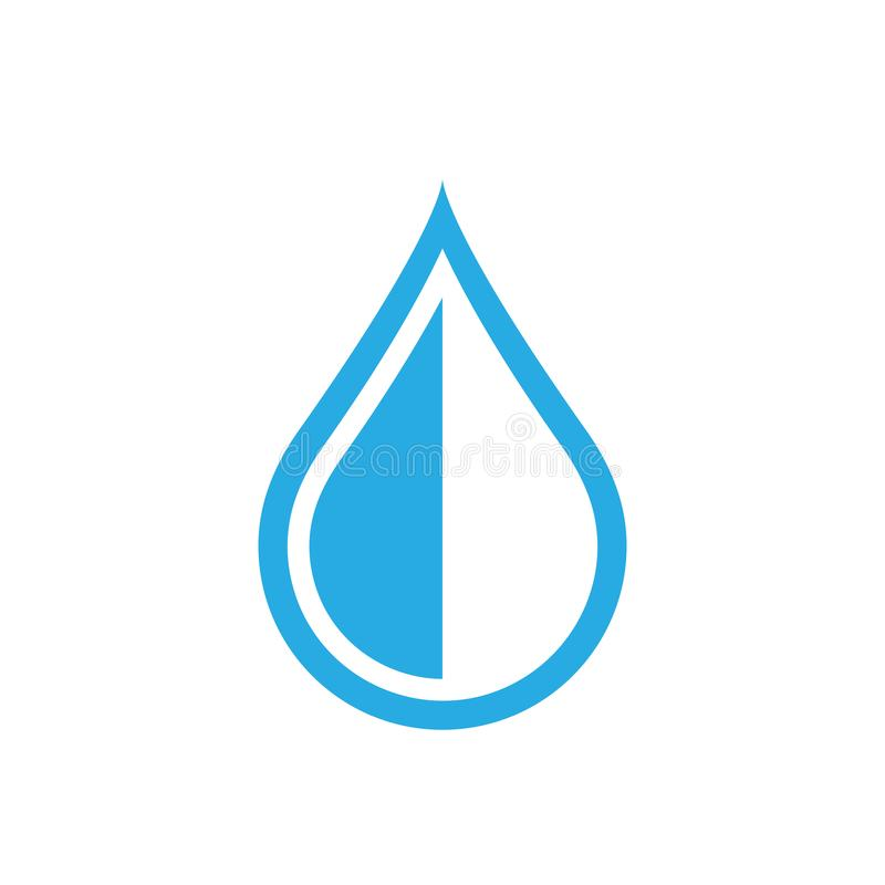 Water drop icon in flat style. Raindrop vector illustration on w. Hite isolated background. Droplet water blob business concept stock illustration