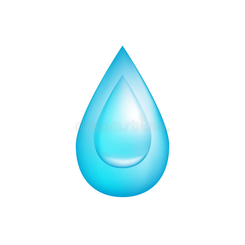 Water drop icon, illustration vector illustration