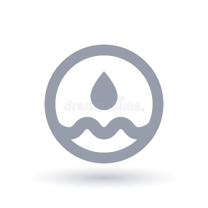 Pure clean water drop icon. Aqua sign. royalty free illustration