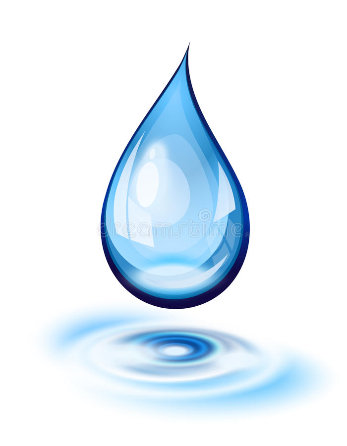 Water Drop Icon Stock Vector Illustration Of Object