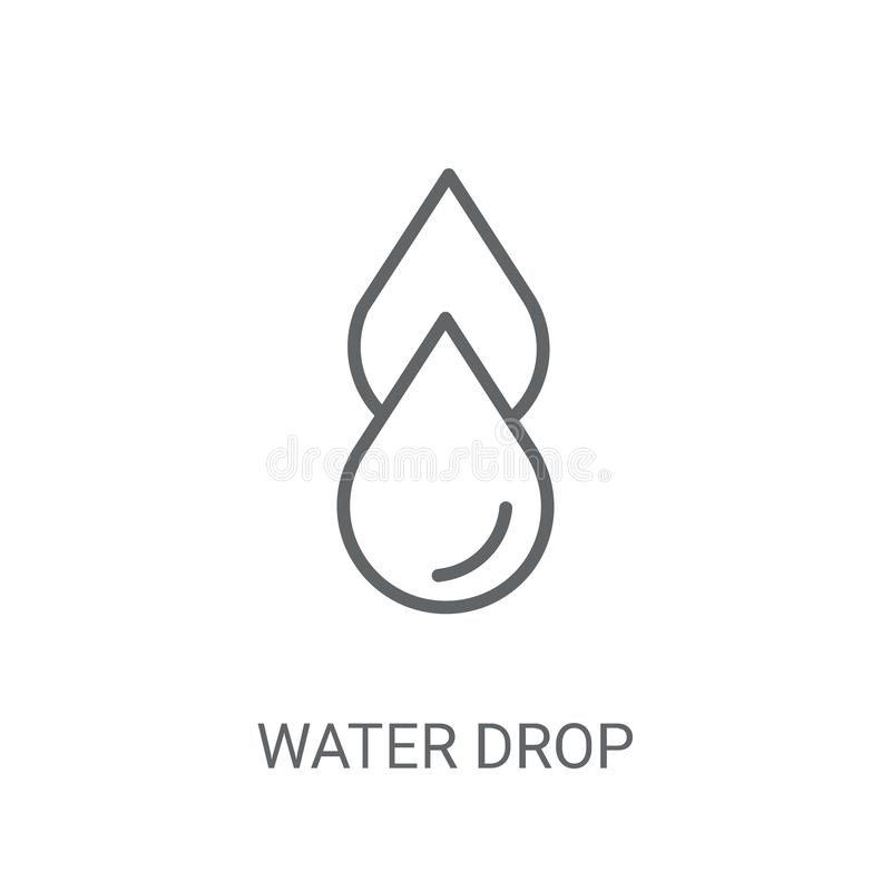 Water drop icon. Trendy Water drop logo concept on white backgro vector illustration