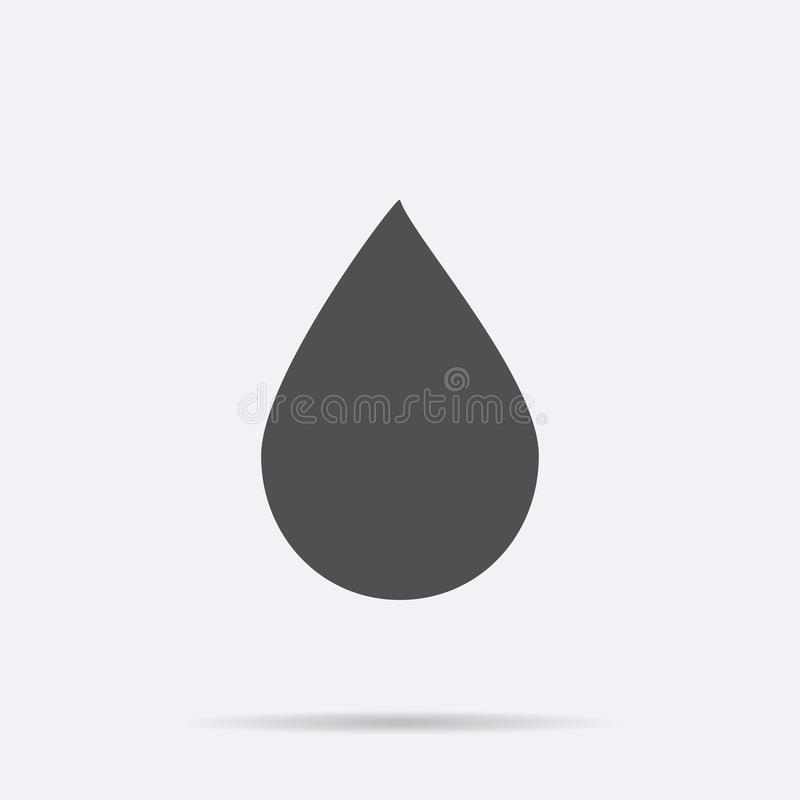 Water drop icon vector. Flat symbol isolated on white background. Trendy internet concept. Modern si stock illustration