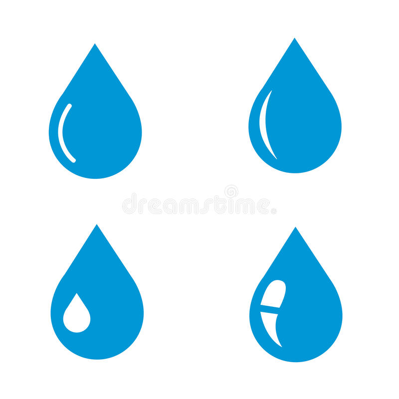 Water drop icon stock illustration