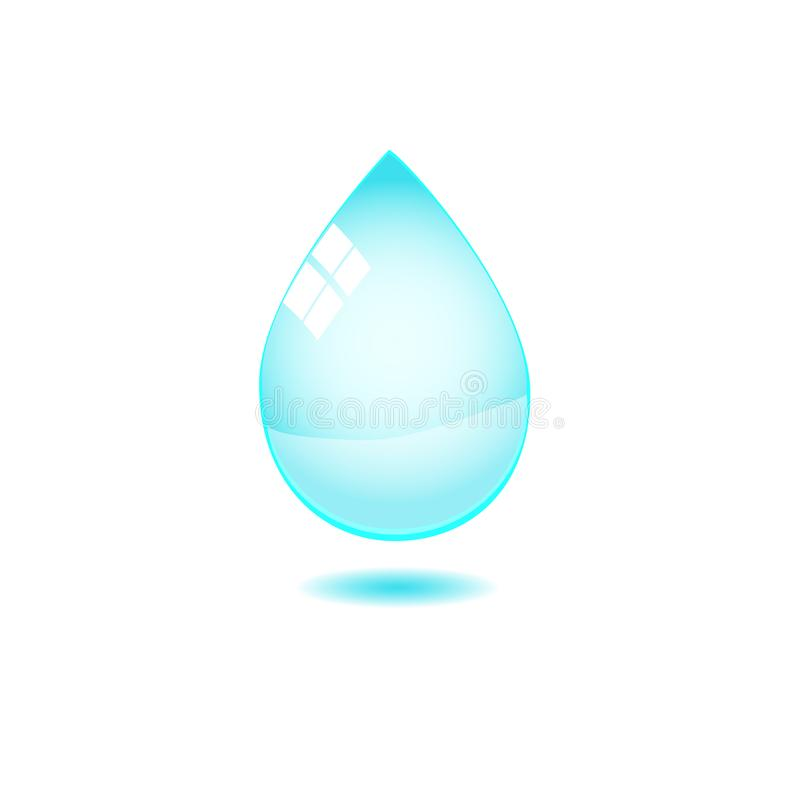 Water drop isolated on white stock photography