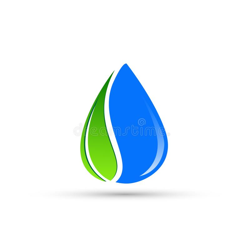 Gradient Abstract Company Logo Template: Waterdrop,leaf, Logo ,circle,plant,spring,nature Landscape