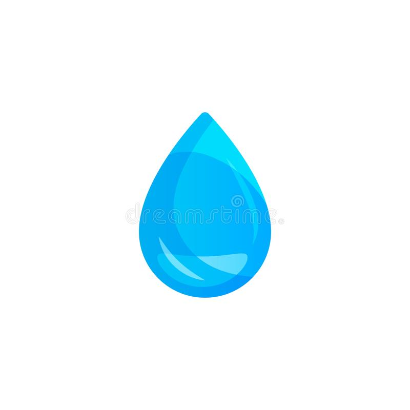 Water drop on light background. Transparency only in vector format. stock illustration