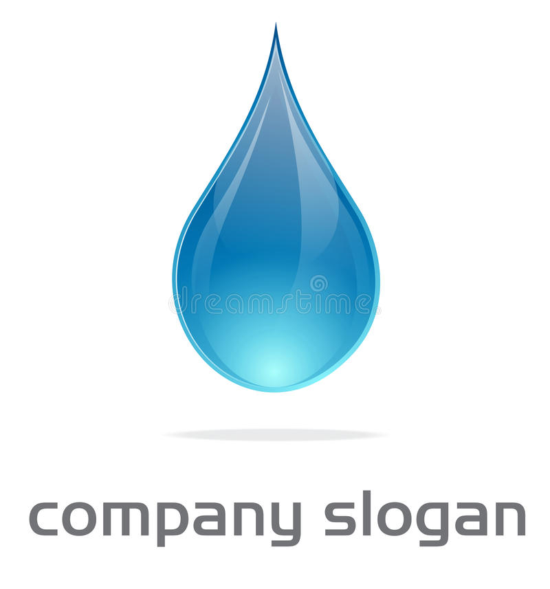 Water drop logo. Vector illustration