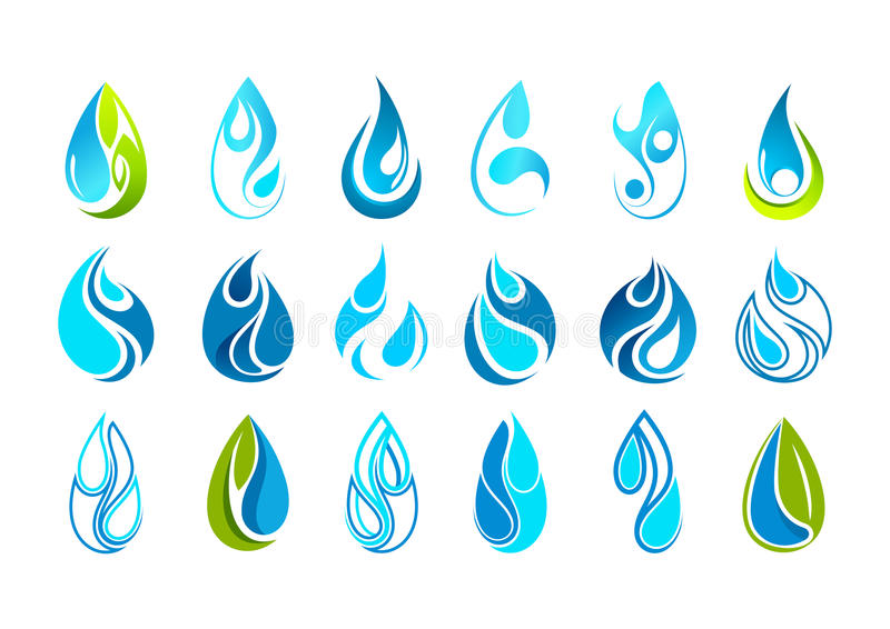 Water drop logo design stock illustration