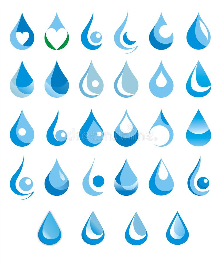 Water drop royalty free illustration