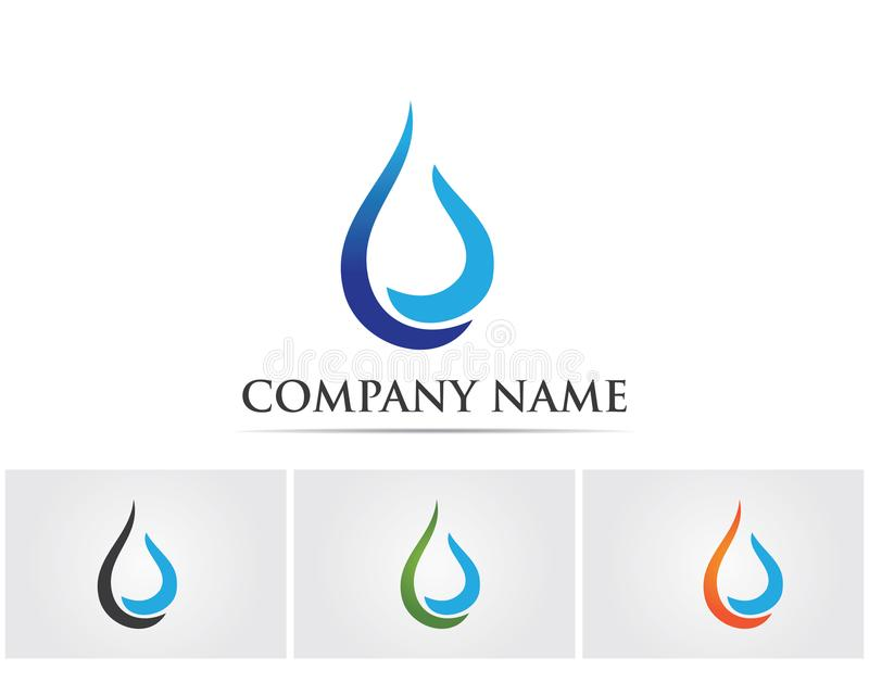 Water Drop Logo And Symbols Template Icons App Stock Vector