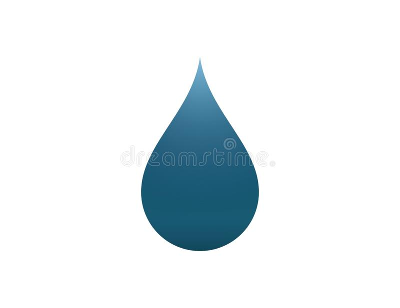Water drop logo template illustration design on white background. Drink, falling, color, blue, wet, shape, liquid, flat, symbol, simple, modern, creative royalty free stock photo