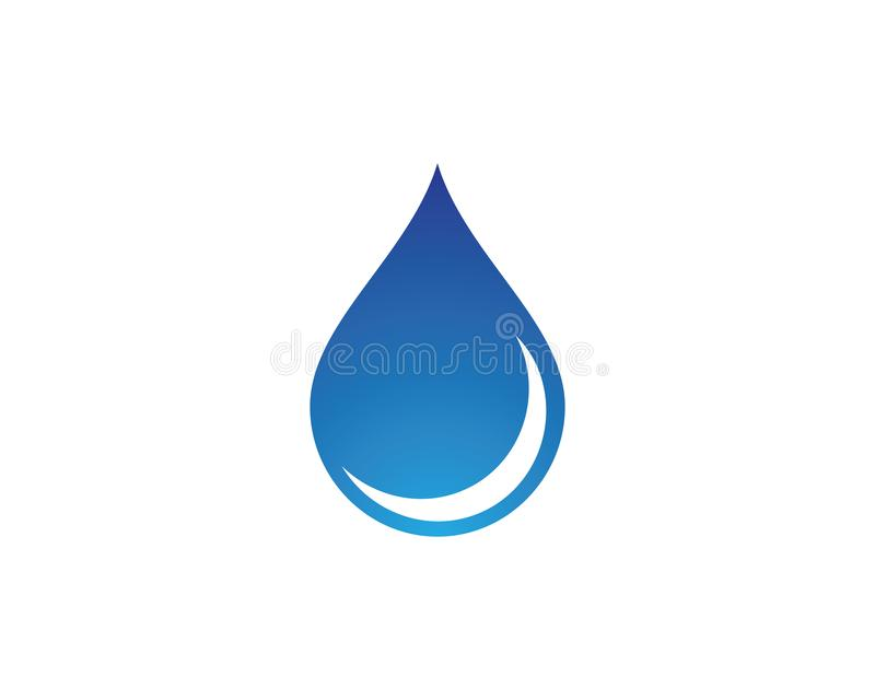 Water drop symbol illustration. Water drop logo template vector icon illustration design royalty free illustration