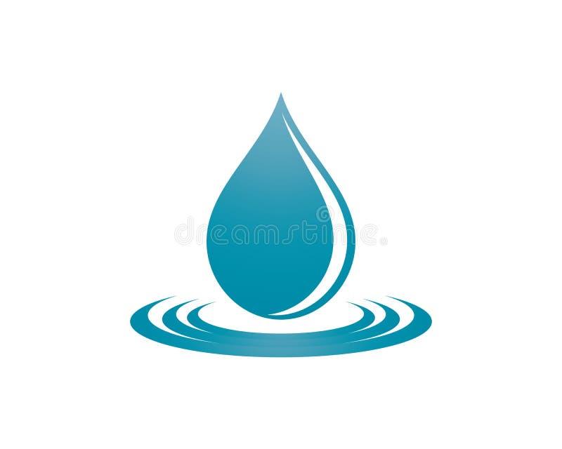 Water drop symbol illustration. Water drop logo template vector icon illustration design stock illustration