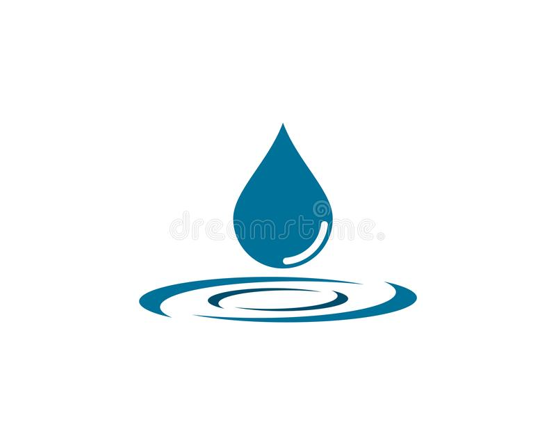 Water Drop Logo template vector icon illustration. Design royalty free illustration