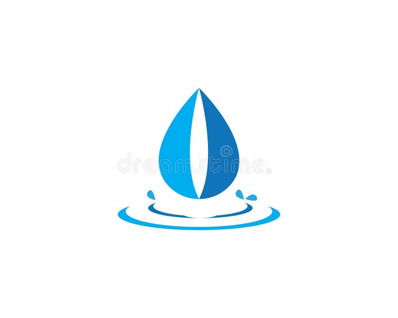 Water drop Logo. Template vector illustration design stock illustration