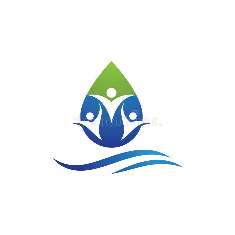 water drop Logo Template stock illustration