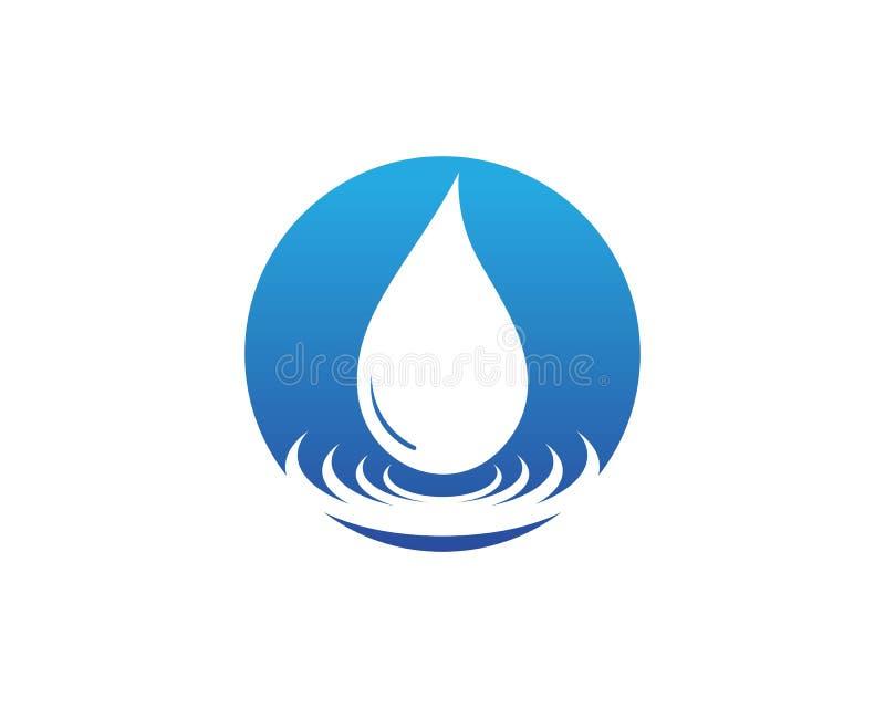 Water drop Logo Template vector illustration design.  royalty free illustration
