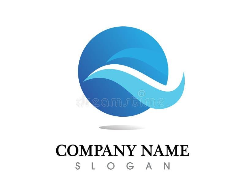 Water drop Logo Template vector illustration design. Water drop Logo and Template vector illustration design royalty free illustration