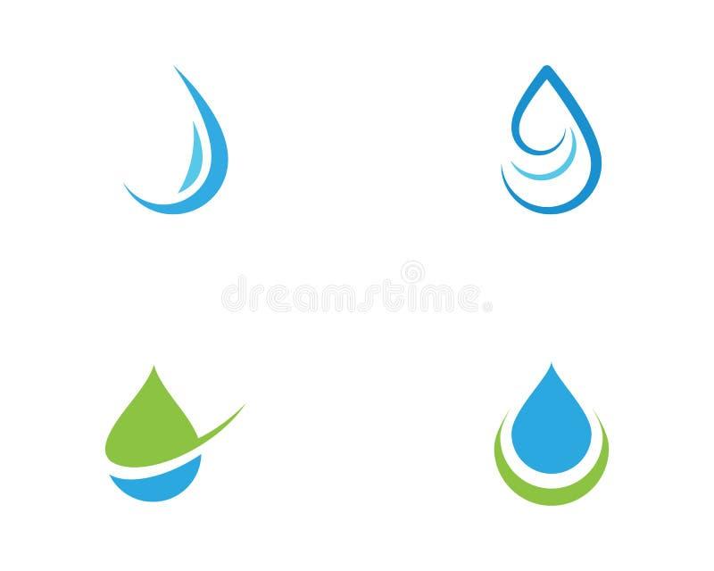 Water drop Logo vector illustration design. Water drop Logo Template vector illustration design stock illustration