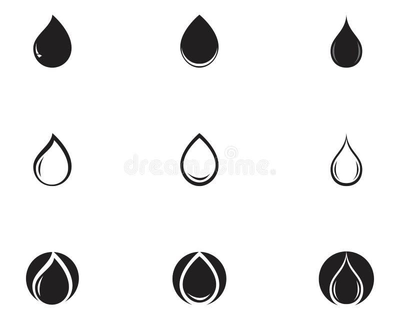 Water drop Logo Template vector illustration design. Water drop Logo Template vector illustration design, wave, droplet, symbol, shape, network, isolated, clear vector illustration