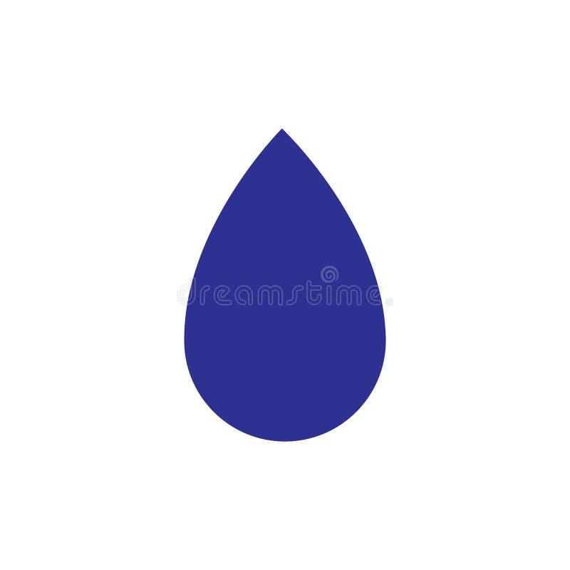Water drop Logo Template vector illustration. Design, waterdrop, icon, liquid, blue, droplet, aqua, nature, concept, natural, clean, business, symbol, element stock illustration