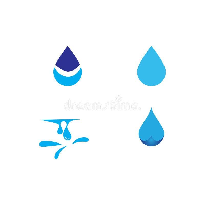 Water drop Logo Template vector illustration. Design, waterdrop, icon, liquid, blue, droplet, aqua, nature, concept, natural, clean, business, symbol, element vector illustration
