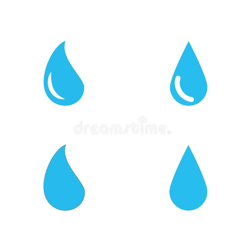 Water drop Logo Template vector illustration. Design, waterdrop, icon, liquid, blue, droplet, aqua, nature, concept, natural, clean, business, symbol, element royalty free illustration