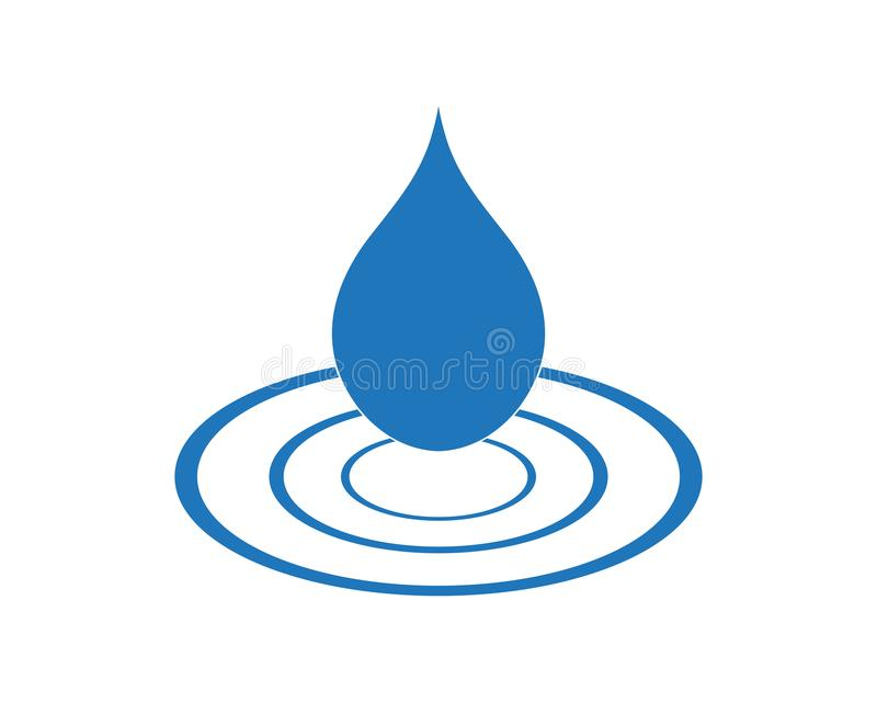 Water drop Logo Template vector. Illustration design royalty free illustration