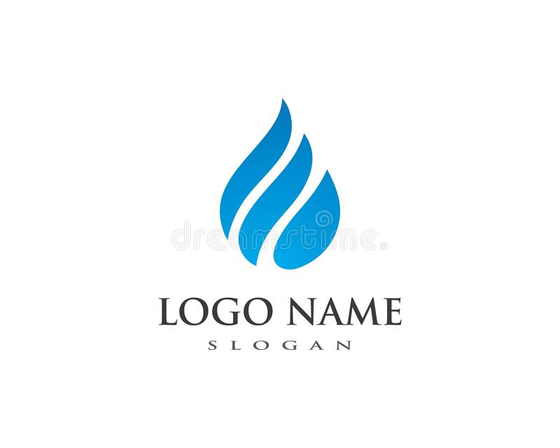 water drop Logo Template vector illustration