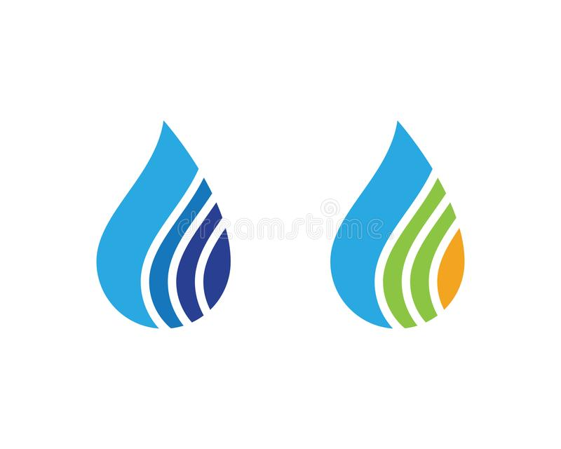 Water drop Logo Template. Vector illustration design stock illustration