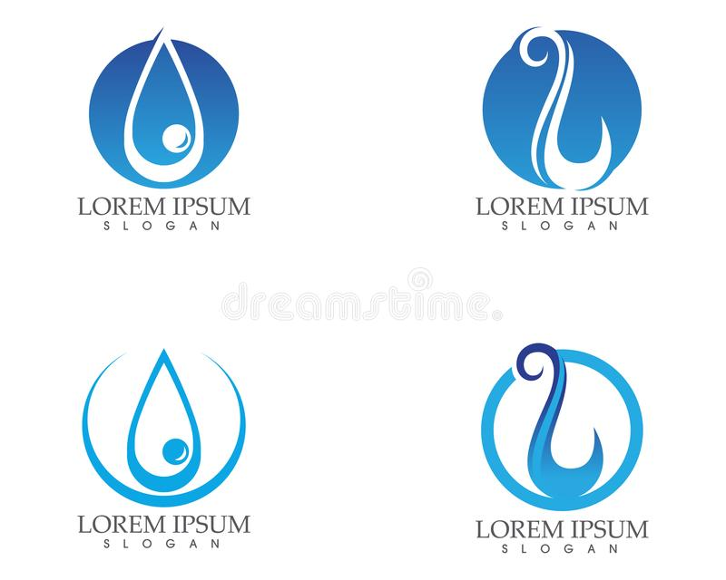 Water Drop Nature Logo And Symbols Template Icons App Stock Vector