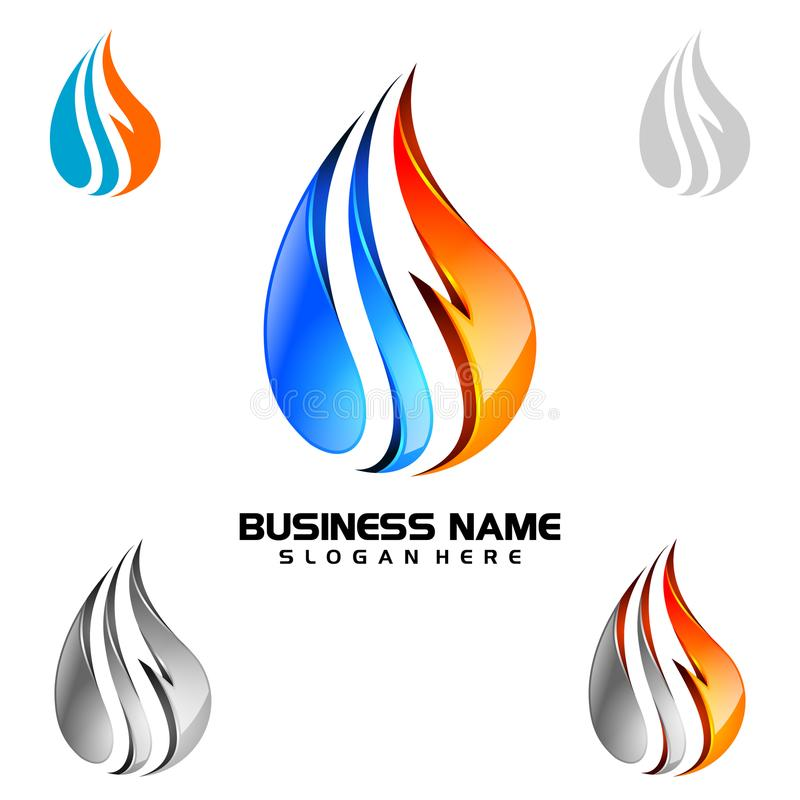 Free Water Drop, Oil, Gas, 3d Blue Water Drop Vector Logo Design Stock Image - 110603091