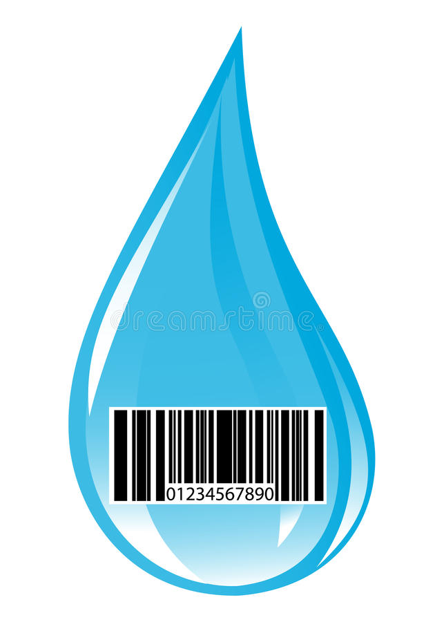 Water drop with price stock illustration