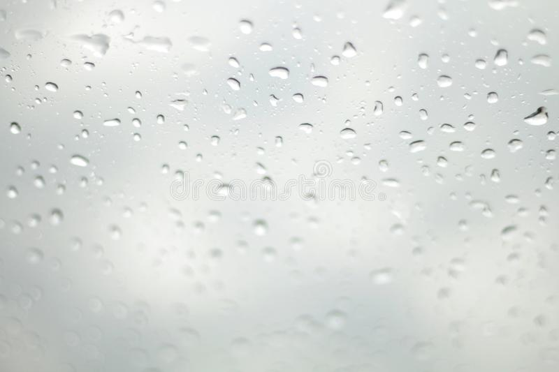 Water Drop Rain, Raindrop water on glass Selective Focus royalty free stock photos