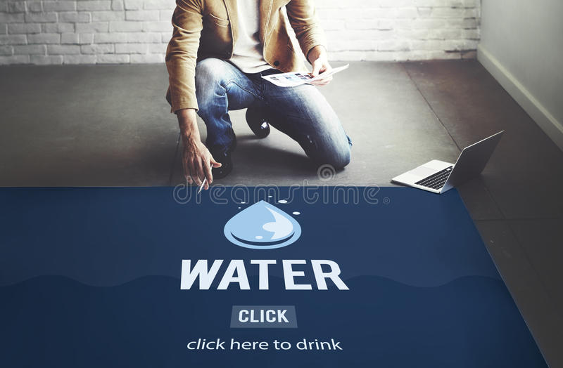 Water Drop Recycling Save Ecology Concept royalty free stock images
