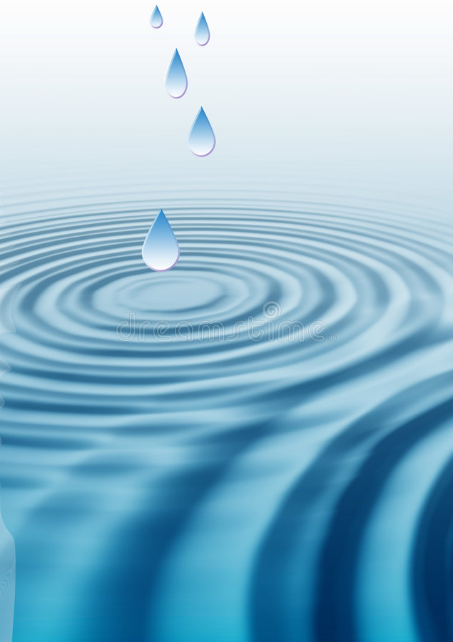 Water Drop Ripples stock illustration