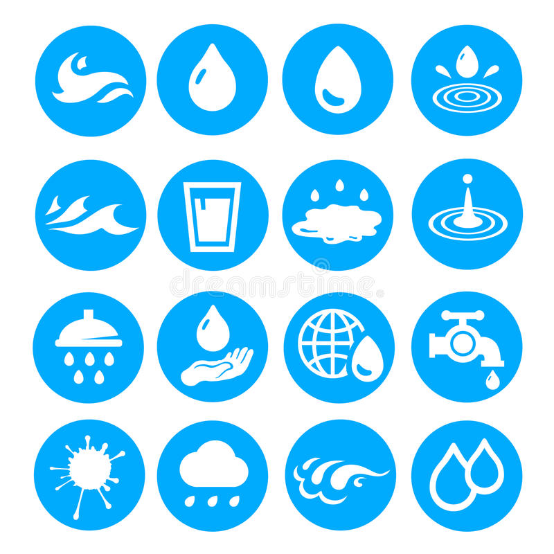 Free Water Drop Shapes Collection. Vector Icon Set Stock Photography - 53697852