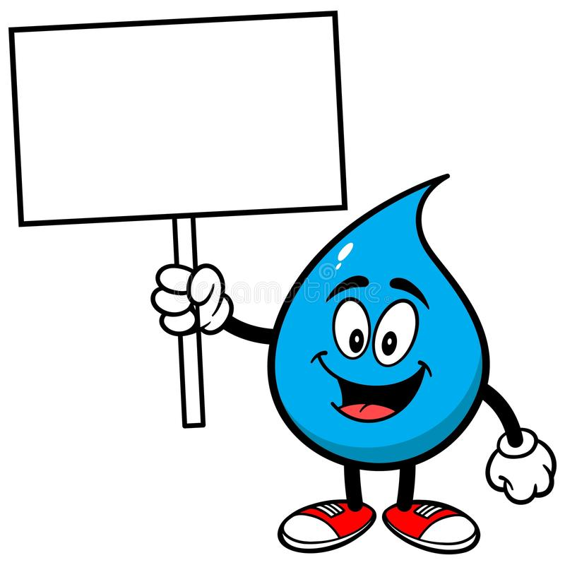 Water Drop with a Sign. A vector illustration of a Water Drop with a Sign vector illustration