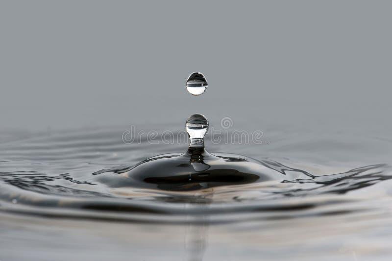 Water drop and splash. Water transparent drop and splash stock photography