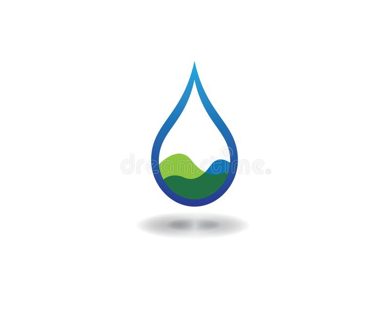 Water drop vector icon. Water drop logo template vector illustration design royalty free illustration