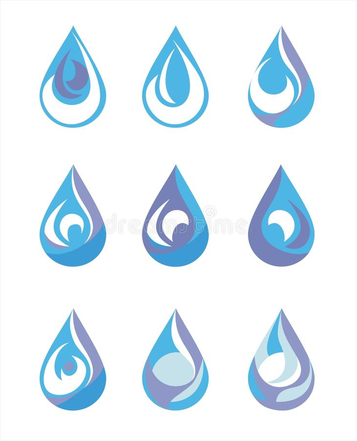 Water drop stock illustration