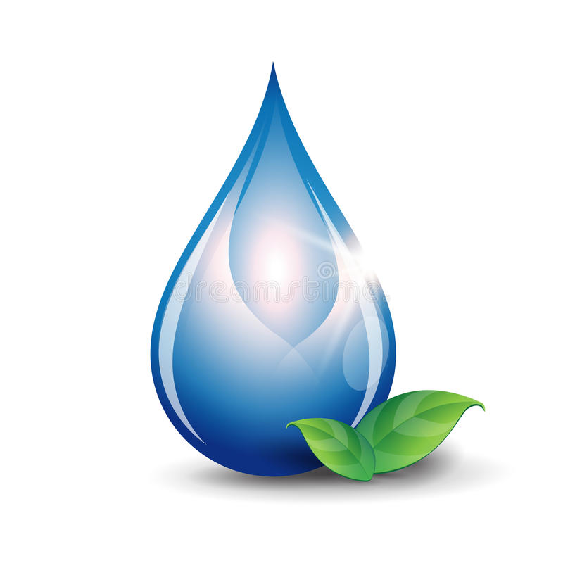 Water drop vector royalty free illustration