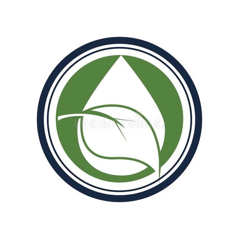 Water drop. Logo Template vector illustration design stock photography