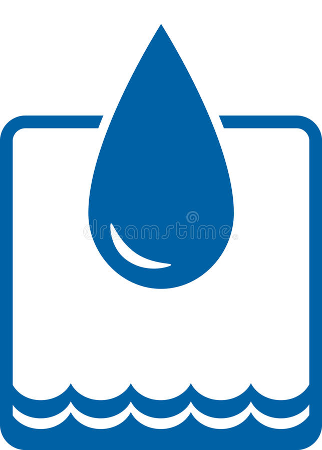 Water drop and wave royalty free illustration