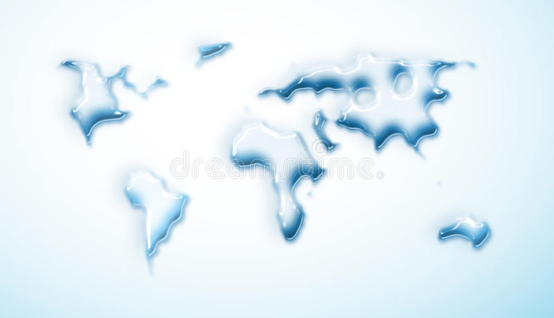 Water-drop world map vector illustration