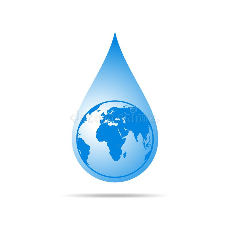 Water drop with a world map vector illustration stock illustration download water drop with a world map vector illustration stock illustration illustration of gumiabroncs Gallery