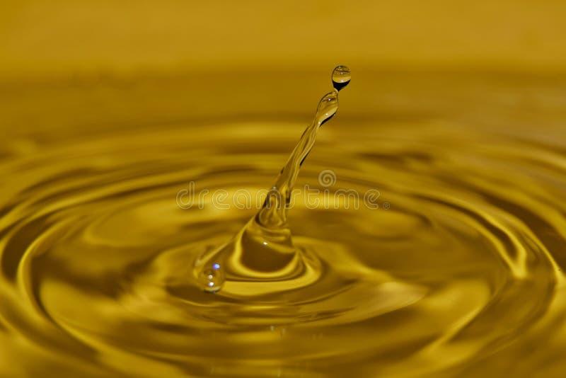 Water, Drop, Yellow, Macro Photography stock photo